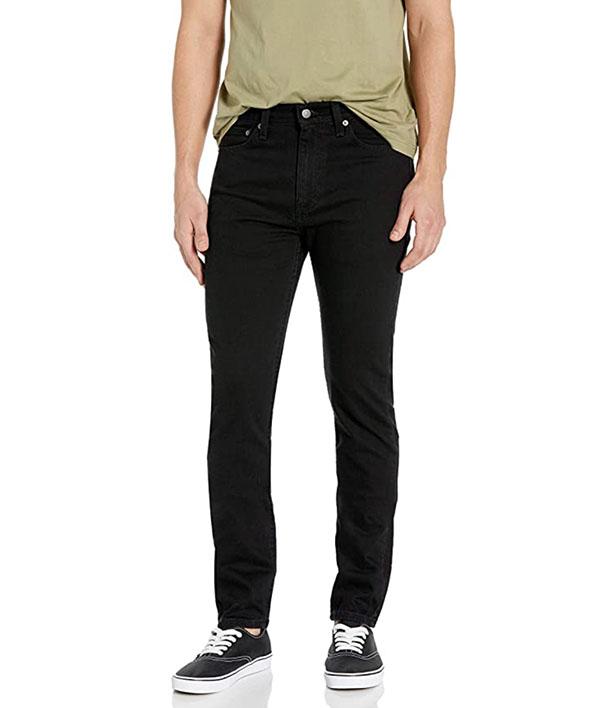 Levi's men's skinny fit jeans in black