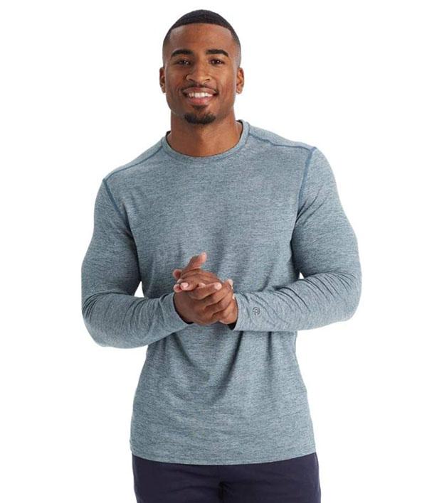 Champion brand men's long sleeve grey tee