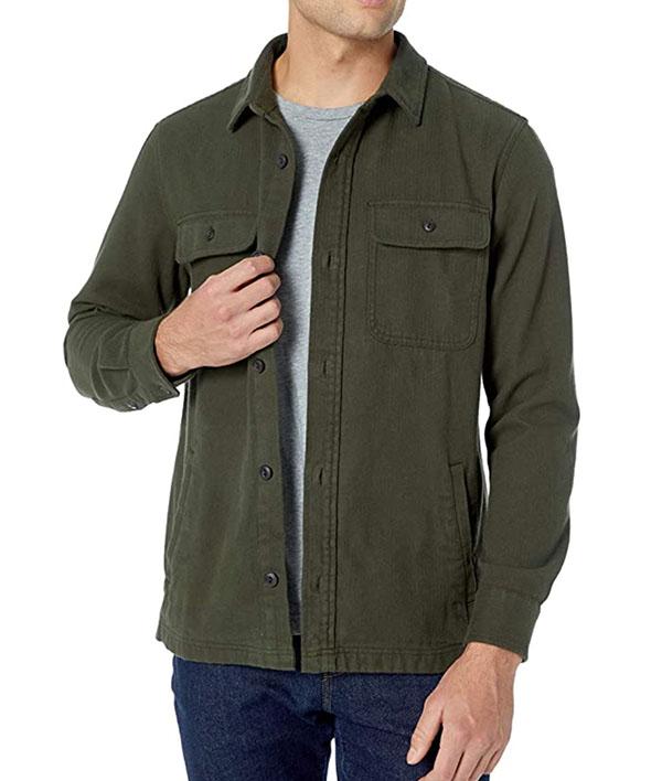 Goodthreads men's long sleeve flannel shirt jacket