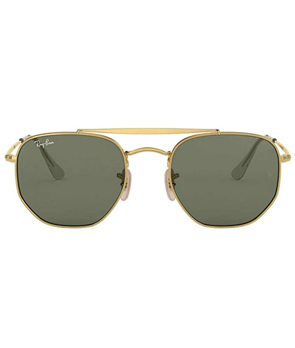 square sunglasses with gold frame from Ray Ban
