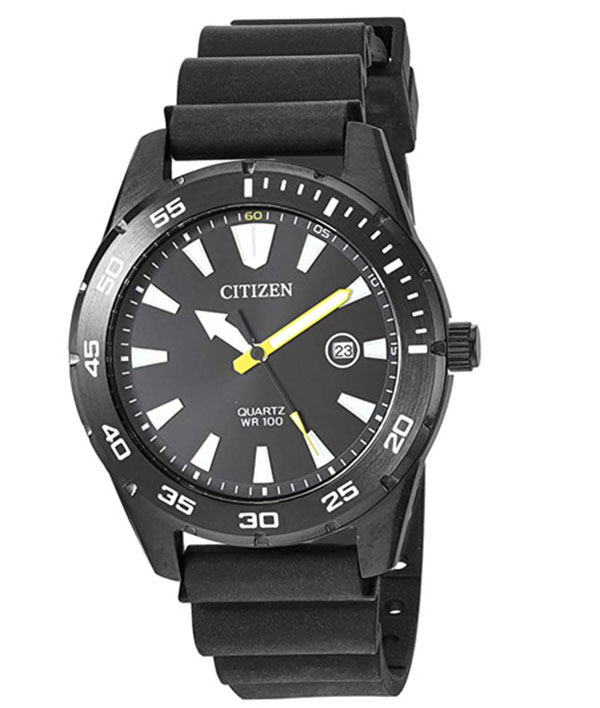 Citizen men's casual watch with black strap