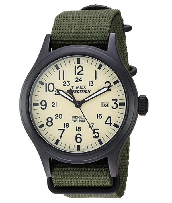 Timex men's expedition scout watch with green strap