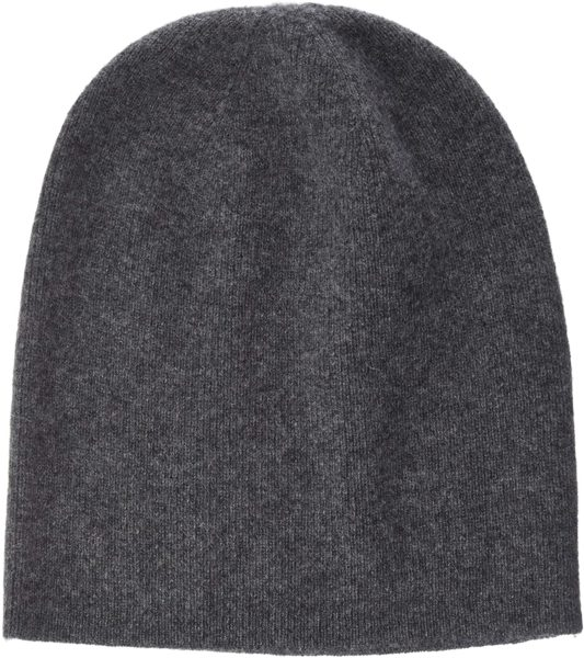 grey cashmere beanie hat from buttoned down