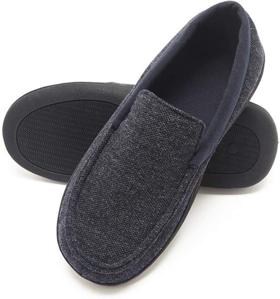 men's moccasin slippers from Hanes