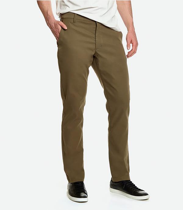 Green slim pants