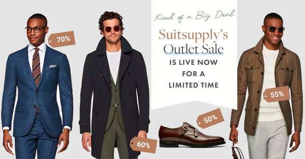 First Dibs: Suitsupply Outlet Sale Now Live for a Limited Time – Suits, Outerwear, Sweaters, Shoes