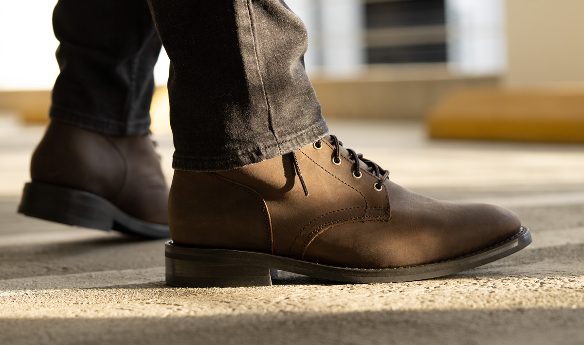 president boots in brown