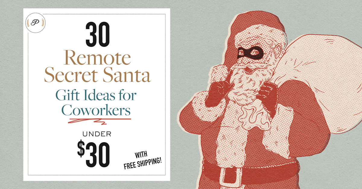 30 Remote Secret Santa Gift Ideas for Coworkers Under $30 [Free Delivery]