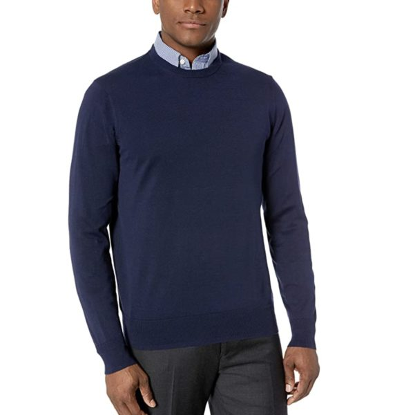 man wearing a supima cotton style sweater from