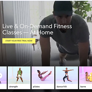 obe fitness advertisement for virtual fitness classes