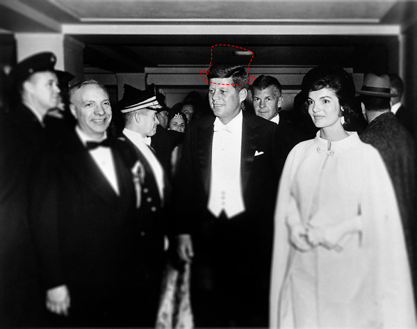 kennedy inauguration without hat