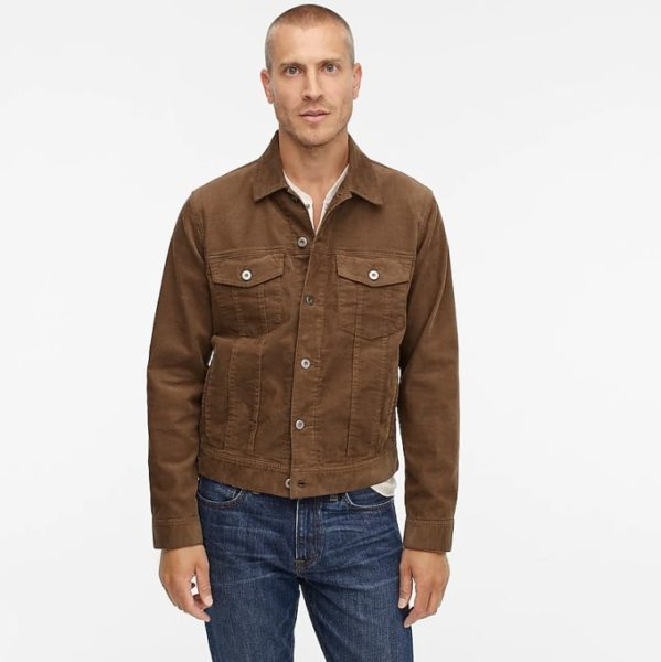 jcrew corduroy trucker jacket for men