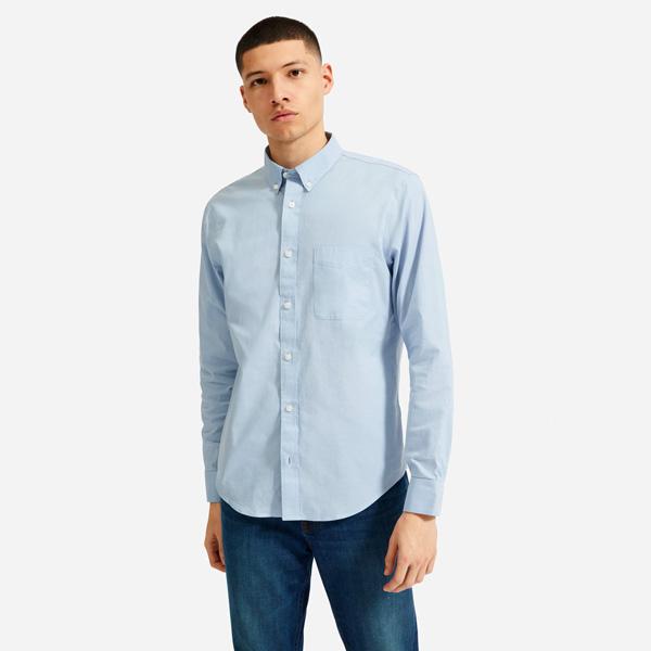 everlane blue oxford air shirt