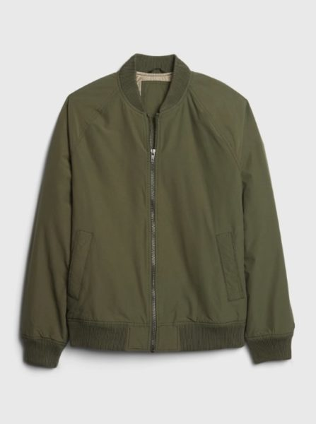 green bomber jacket for men from gap