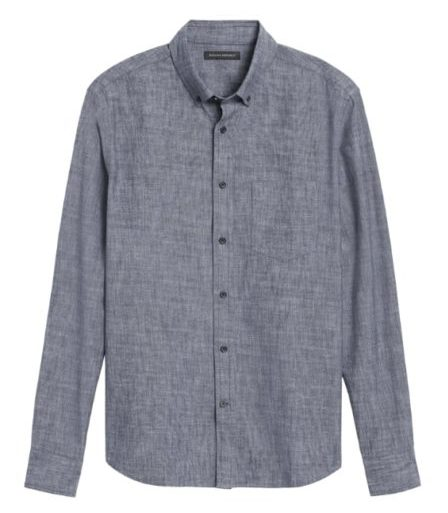 banana republic chambray shirt for men