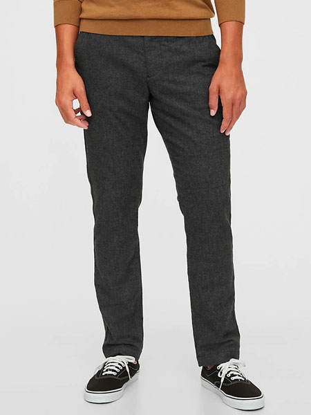 charcoal heather gray pants from Gap