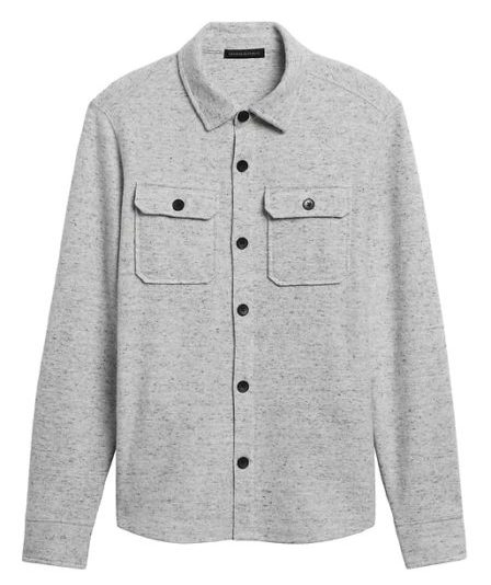 gap waffle shirt jacket
