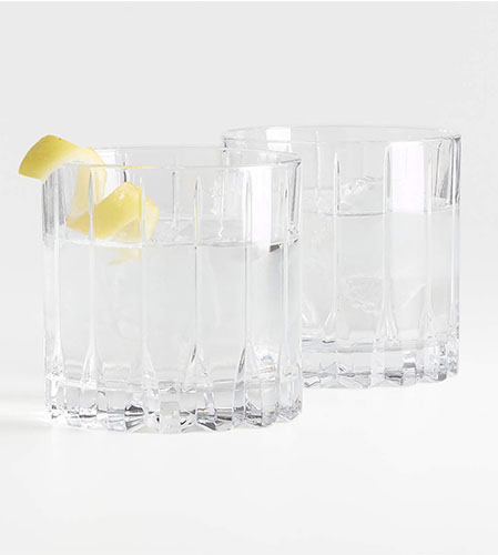 set of two rocks glasses from crate and barrel