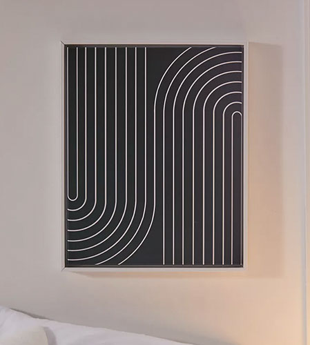 curve line canvas art print from urban outfitters