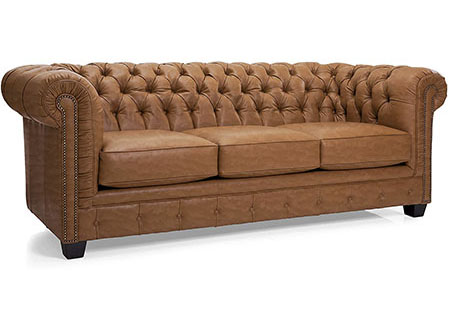 tufted leather couch from amazon