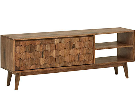 wood media console from amazon