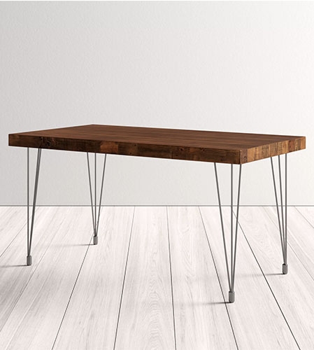 wood dining table from wayfair