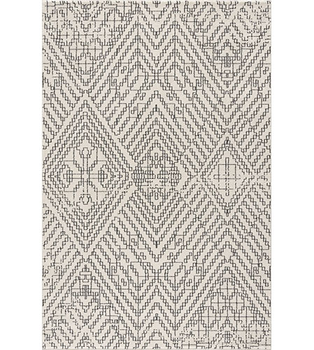 black and white print area rug from poly and bark