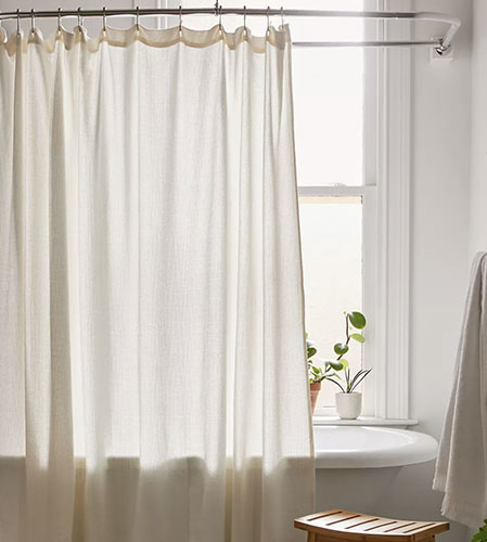 waffle weave shower curtain from urban outfitters