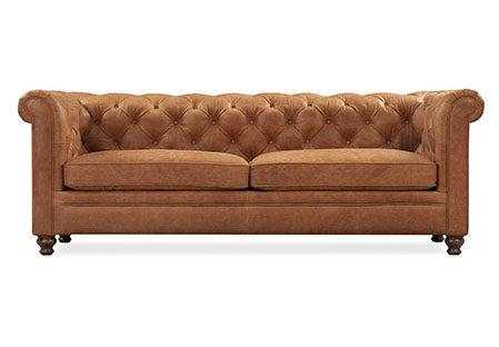 leather sofa from poly and bark