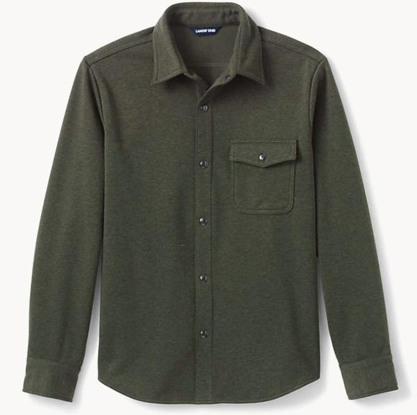 lands end fleece shirt jacket