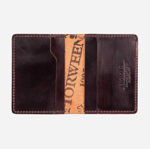 dark brown leather horoween wallet