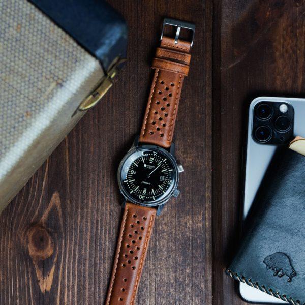 racing horoween leather watch band