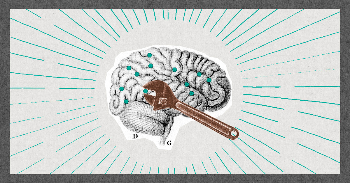 Life Skills - illustration of brain with wrench tightening bolts