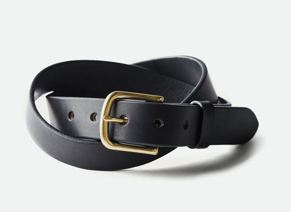 tanner goods leather belt