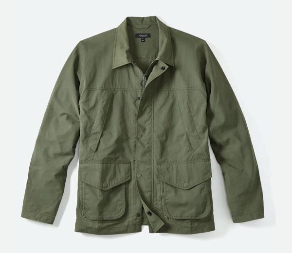 jaqueta de lona encerada à prova