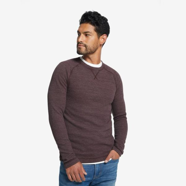 brown thermal crew shirt for men from american giant