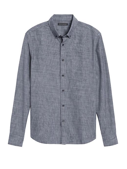 banana republic chambray button down shirt for men