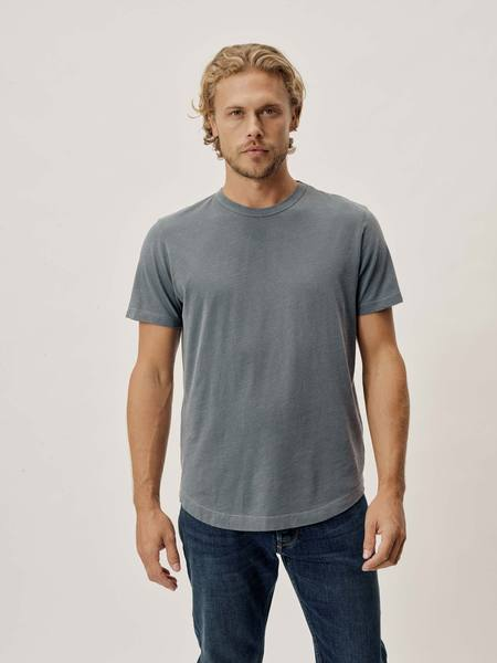 grey short sleeve shirt for men from buck mason