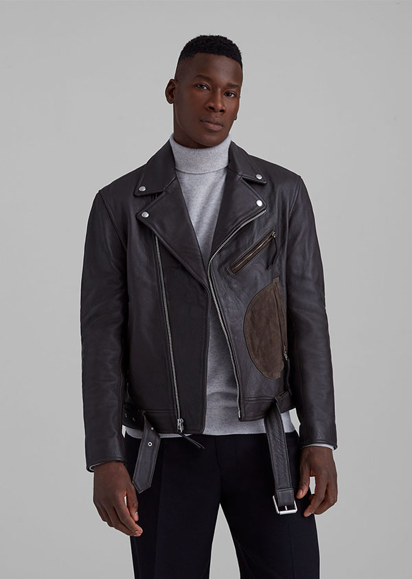 leather jacket from club monaco for men