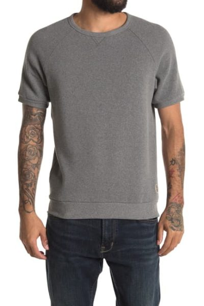 grey crewneck shirt for men