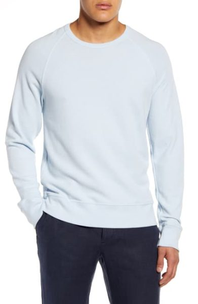 light blue crewneck sweatshirt for men