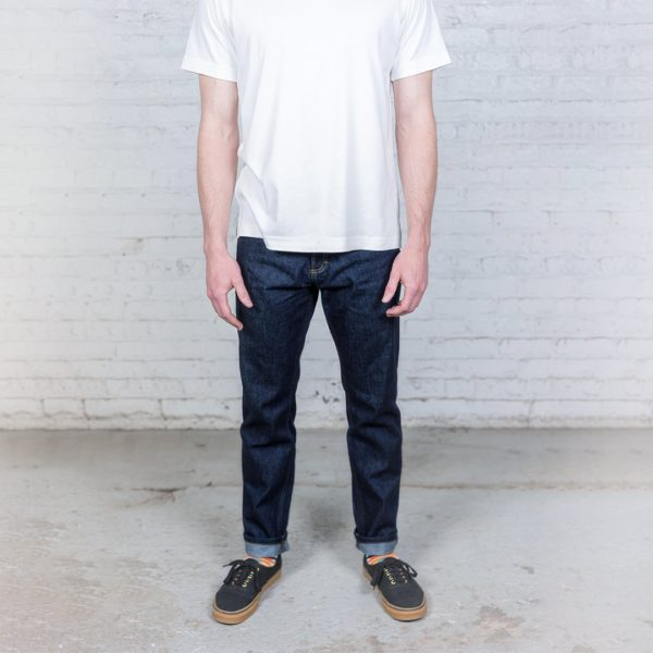 slim fit dark wash denim jeans for men