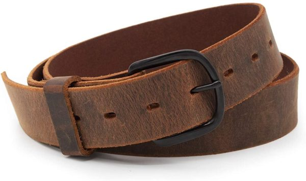 full grain brown leather belt