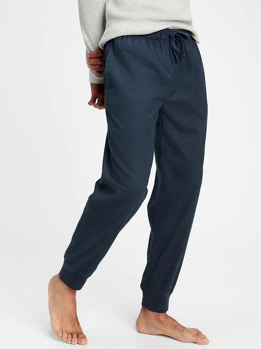 flannel joggers for men from gap