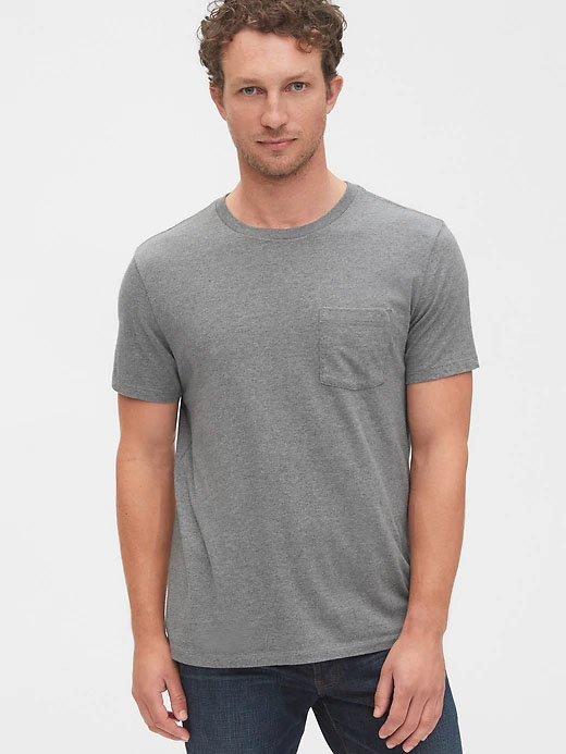 pocket tee shirt for men from gap