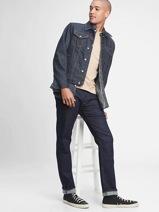 jeans slim com gapflex para homens