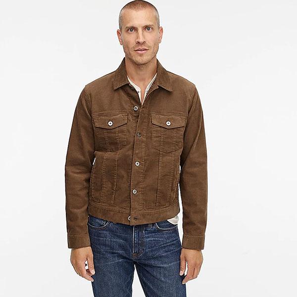 Trucker jacket in stretch corduroy from jcrew for men