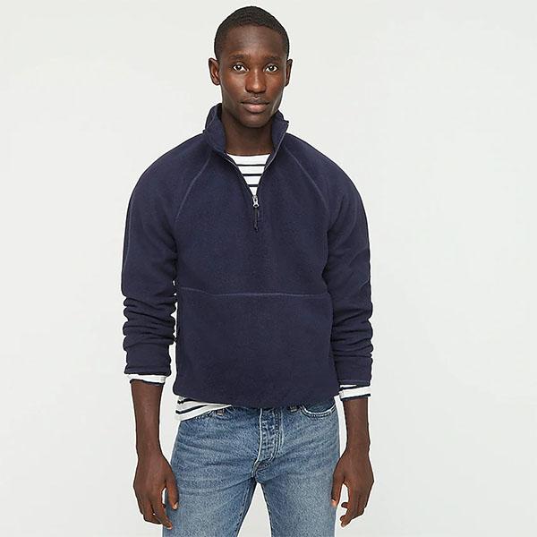 Micro fleece half-zip pullover from jcrew for men