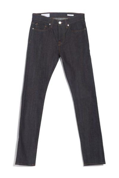 modern dark wash slim fit jeans for men