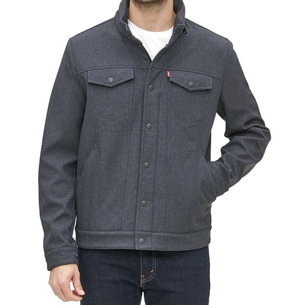 levis high neck jacket for men